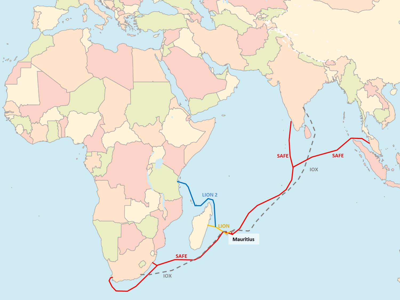 Submarine cables to Mauritius