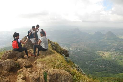 The summit of Le Pouce, Mauritius