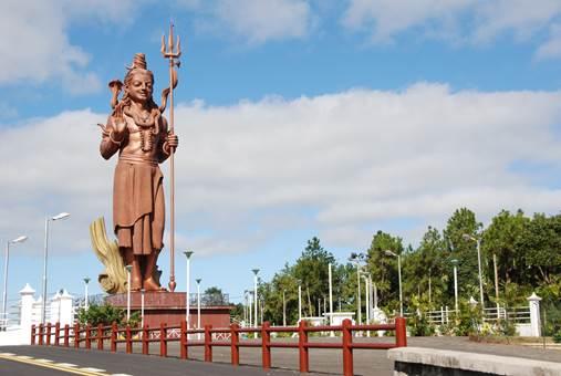 Shiva Statue in Grand Bassin, Mauritius