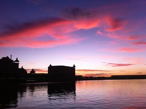 Sunset at Le Caudan Waterfront, Port Louis