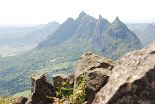 View from the summit of Le Pouce, Mauritius
