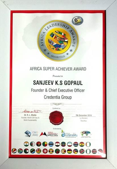 Sanjeev Gopaul Award 2